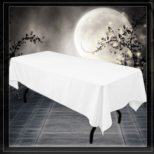 Rectangle Tablecloth : WHITE (60 By 102)